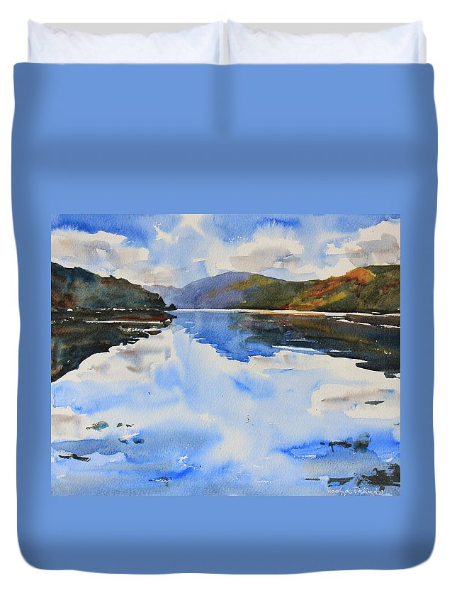 Isle Of Skye Duvet Cover featuring the painting View Towards Skye by Ibolya Taligas