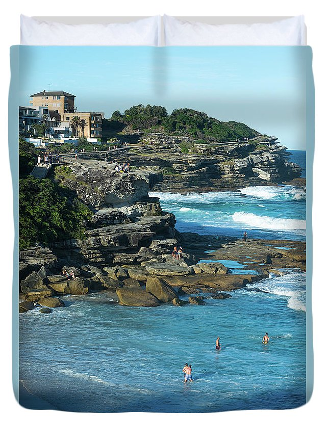 2017 Duvet Cover featuring the photograph Views From The Bronte To Bondi Coastal Path by Andrew Michael