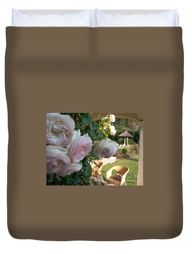 Roses Duvet Cover featuring the photograph Villa Roses by Nadine Rippelmeyer