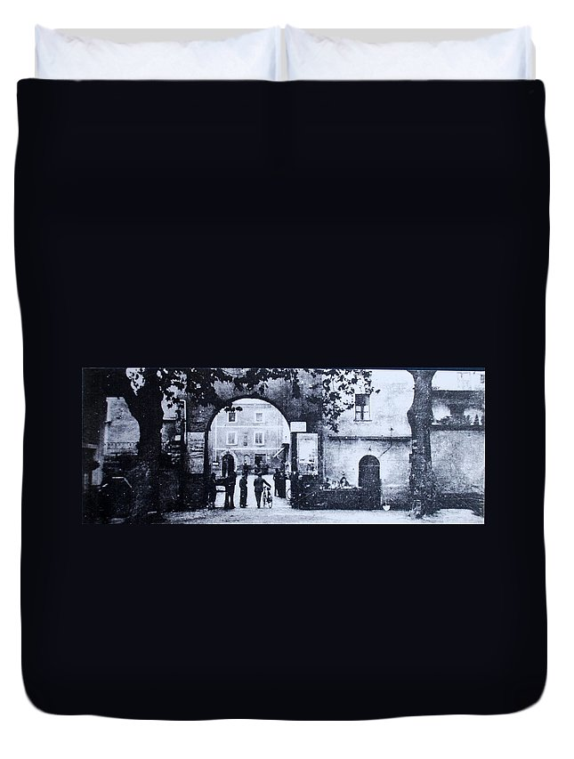 Tuscany Duvet Cover featuring the photograph Villafranca by Kurt Hausmann