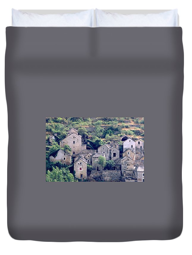 Village Duvet Cover featuring the photograph Village by Flavia Westerwelle