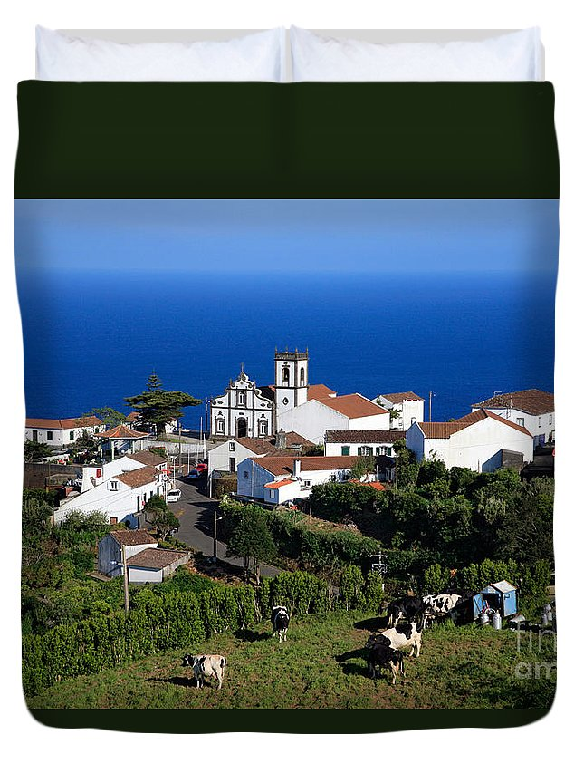 Azores Duvet Cover featuring the photograph Village In The Azores by Gaspar Avila