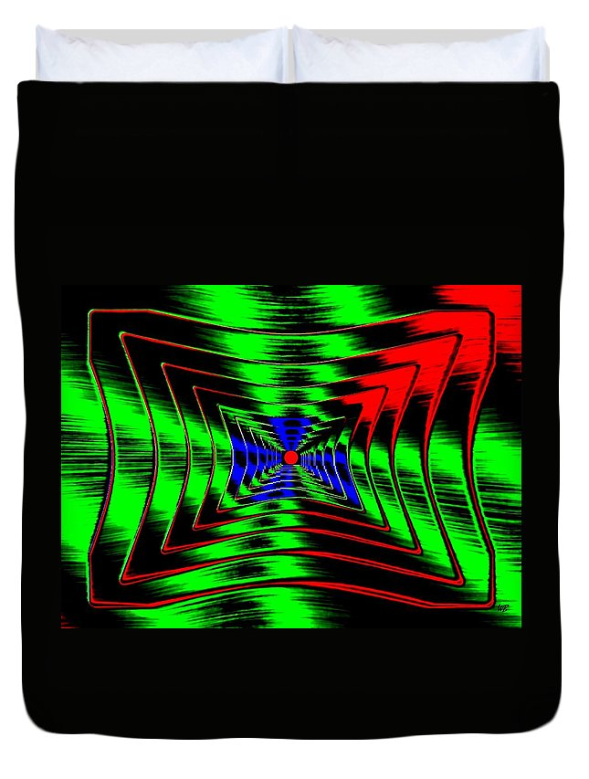 Energizing Duvet Cover featuring the digital art Vim And Vigor by Will Borden