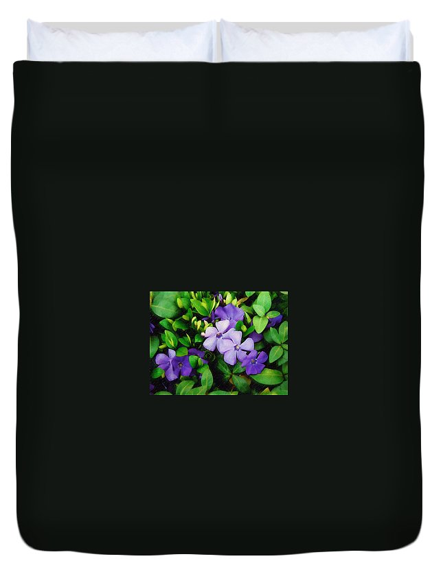 Vinca Duvet Cover featuring the photograph Vinca by Sandy MacGowan