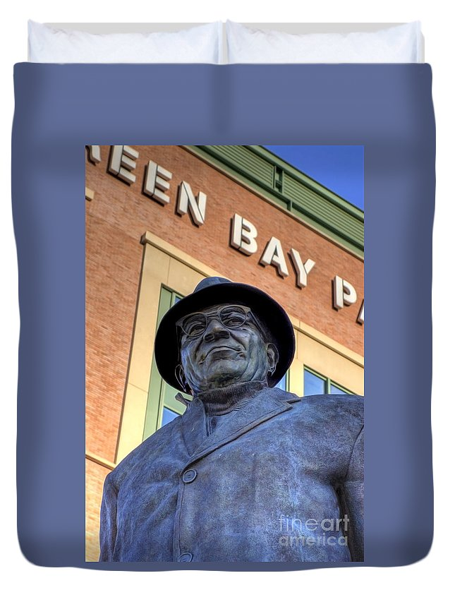 Vince Lombardi Duvet Cover featuring the photograph Vince Lombardi by Joel Witmeyer