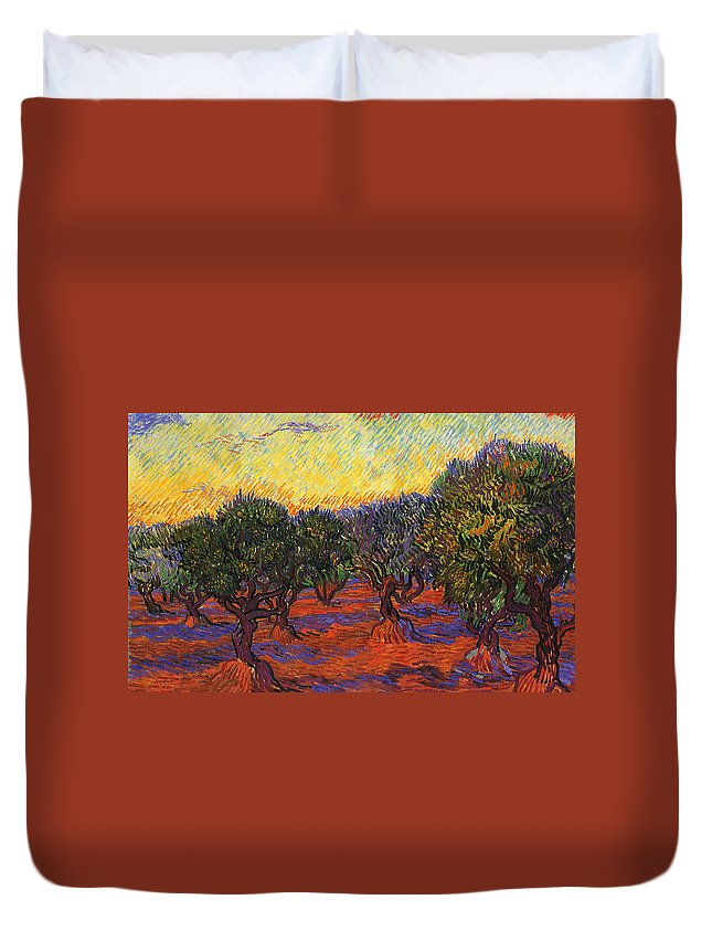 Vincent Van Gogh Duvet Cover featuring the digital art Vincent Van Gogh by Bert Mailer