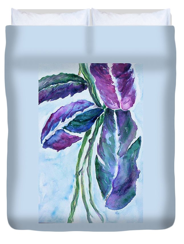 Landscape Duvet Cover featuring the painting Vine by Suzanne Udell Levinger