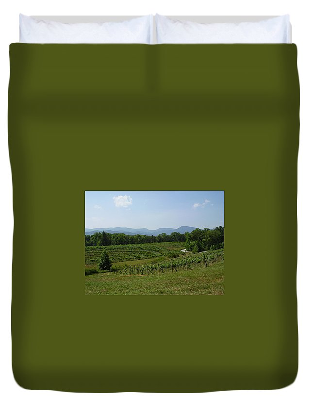 Vineyard Duvet Cover featuring the photograph Vineyard by Flavia Westerwelle