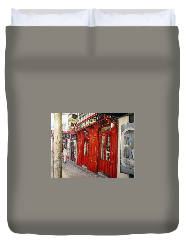 Urban Duvet Cover featuring the painting Vinos Sagasta by Tomas Castano