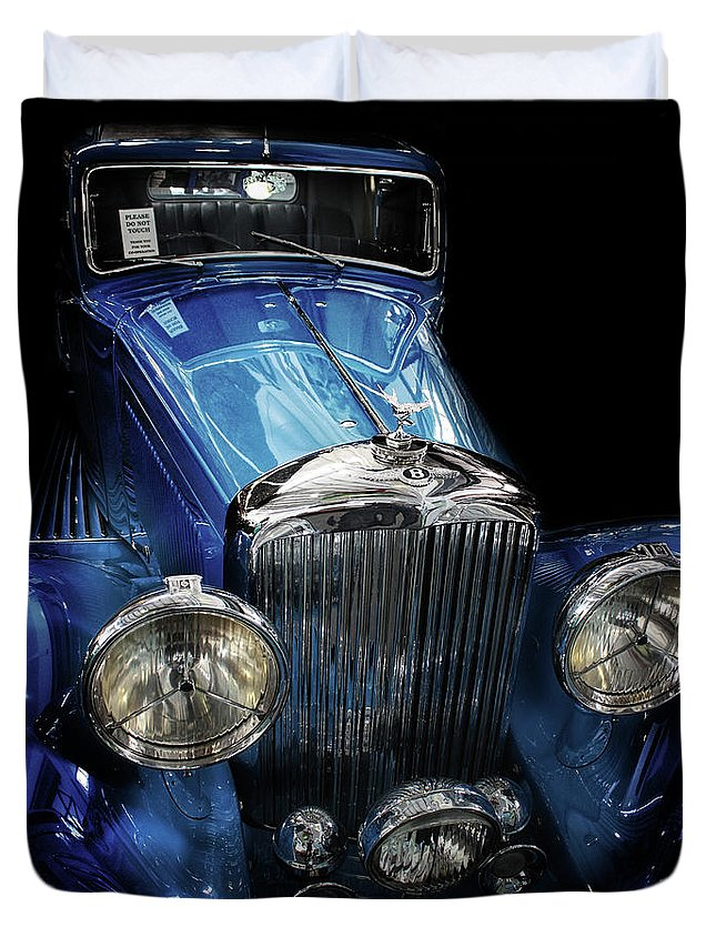Bentley Duvet Cover featuring the photograph Vintage Bentley by Martin Newman