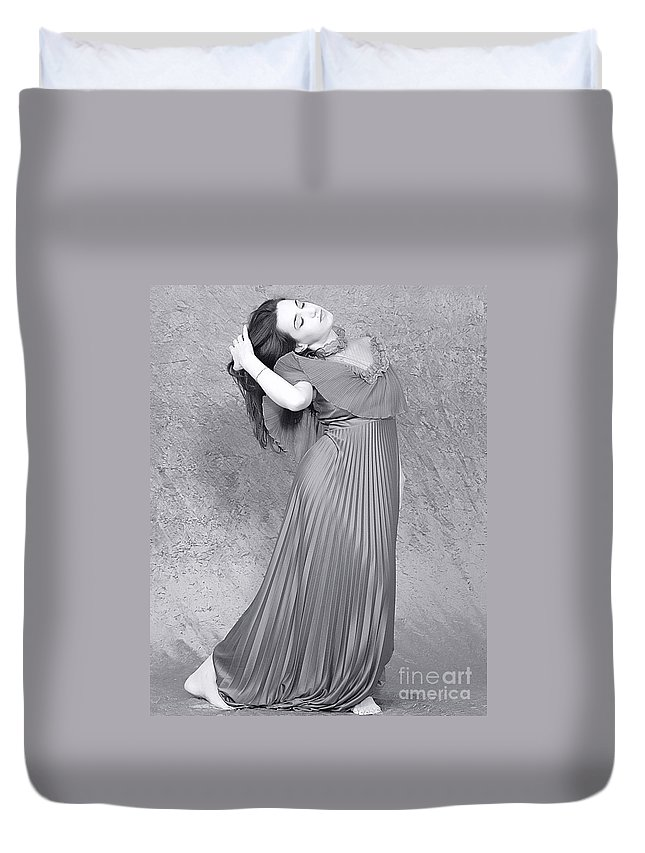 Clay Duvet Cover featuring the photograph Vintage Black And White by Clayton Bruster