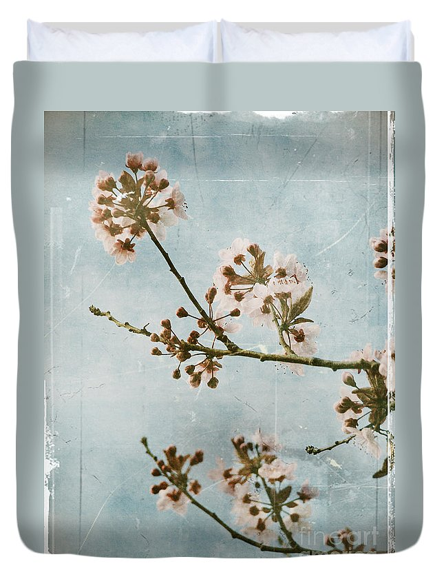 Blossoms Duvet Cover featuring the photograph Vintage Blossoms by Tara Turner