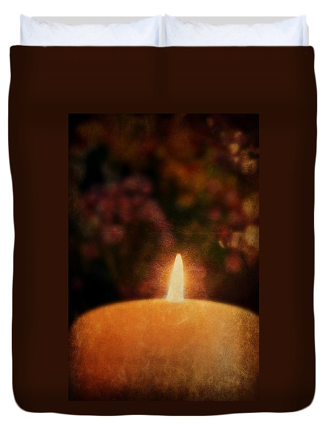 Candle Duvet Cover featuring the photograph Vintage Candle by Kim Blaylock