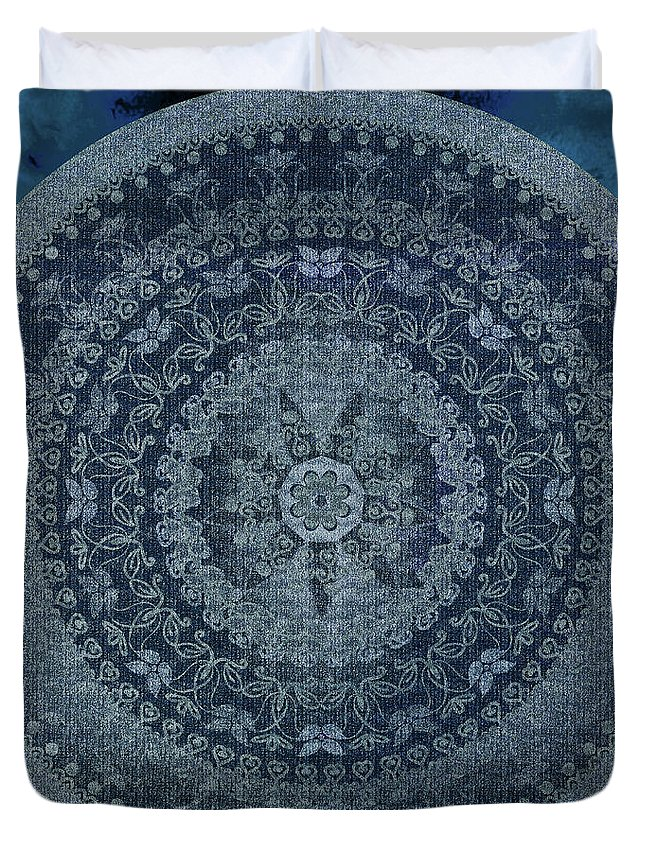 Vintage Denim Mandala Duvet Cover For Sale By Nina May
