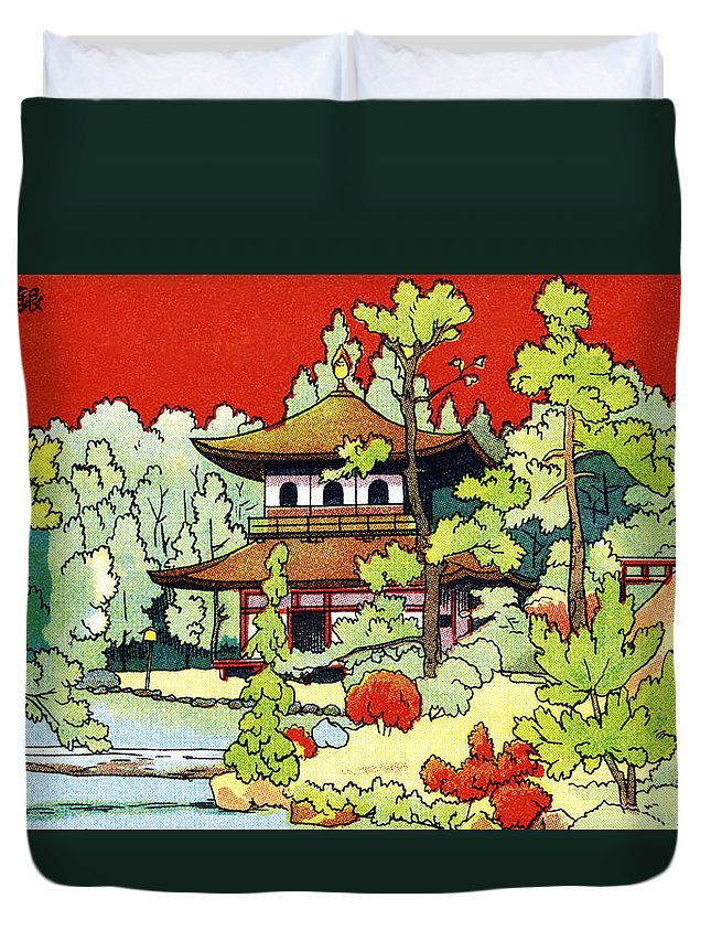 70-csm0286 Duvet Cover featuring the painting Vintage Japanese Art 7 by Hawaiian Legacy Archive - Printscapes
