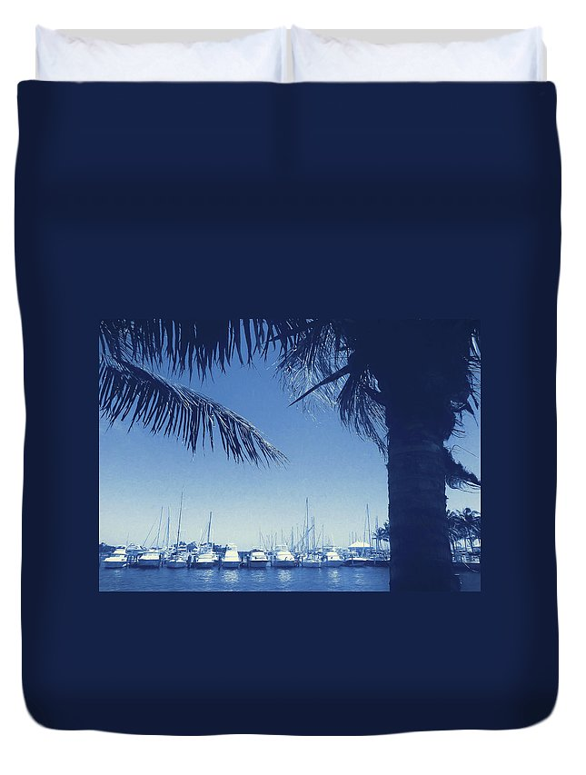 Vintage Duvet Cover featuring the photograph Vintage Miami by JAMART Photography