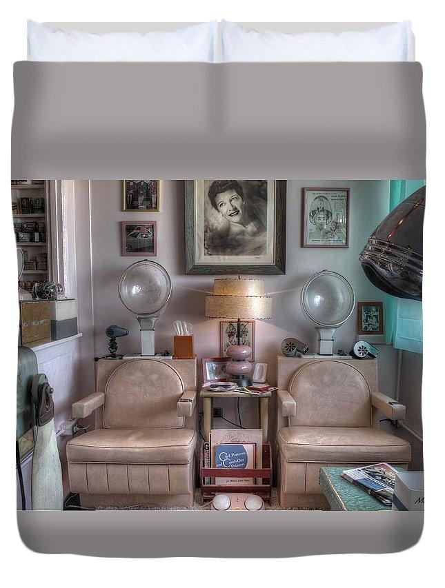 Vintage Mid Century Modern Beauty Parlor Salon Duvet Cover for Sale ...