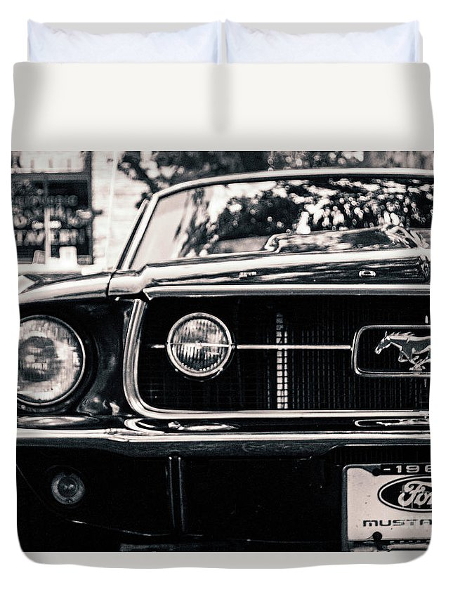 Mustang Duvet Cover featuring the photograph Vintage Mustang by Edmund Mazzola