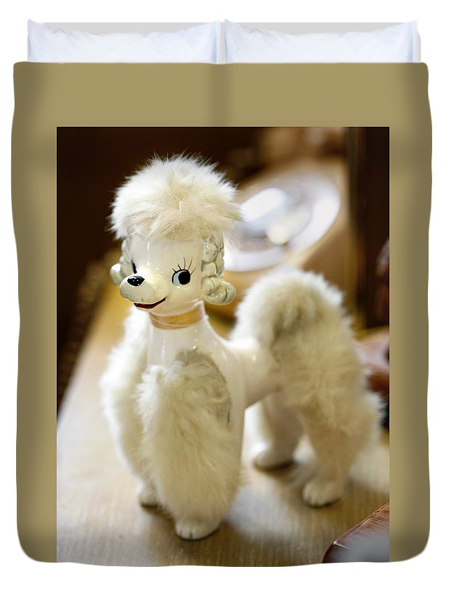 Poodle Duvet Cover featuring the photograph Vintage Poodle by Marilyn Hunt