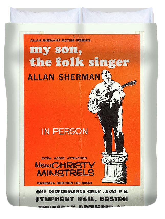 Vintage Posters Duvet Cover featuring the photograph Vintage Poster My Son The Fold Singer Allan Sherman by Edward Fielding