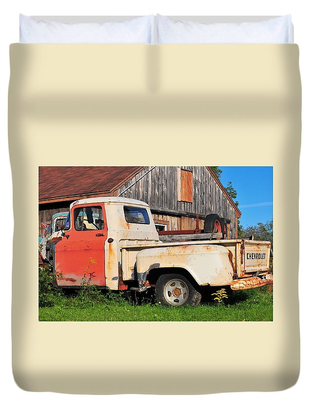 Truck Duvet Cover featuring the photograph Vintage Ride by Catherine Reusch Daley