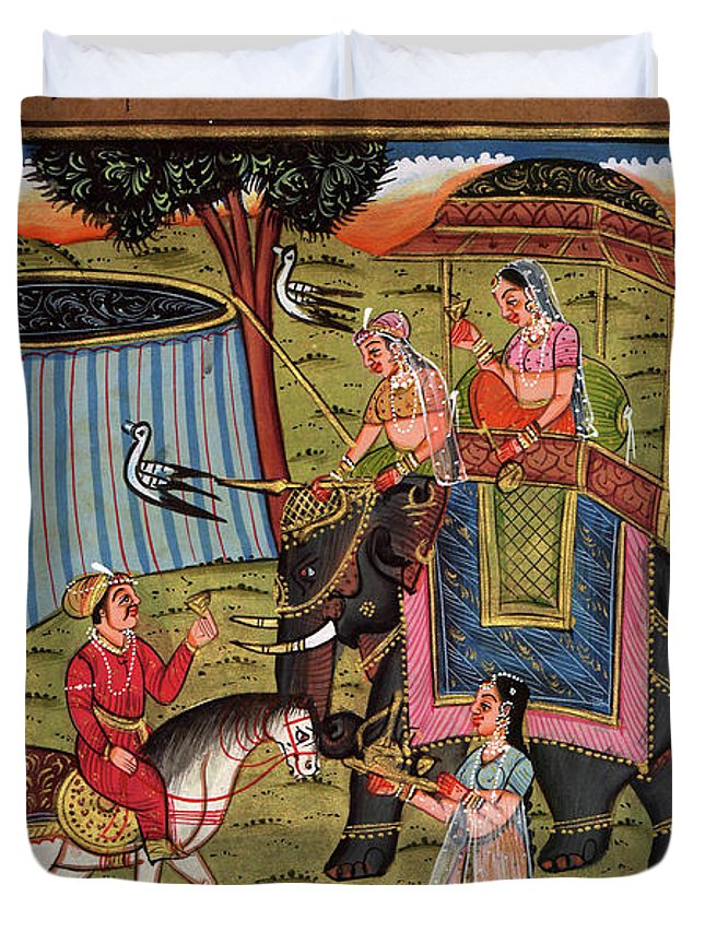NICE OLD RAJASTHAN MINIATURE PAINTED INDIAN POSTCARD OF INDIAN  WOMAN  NO 178