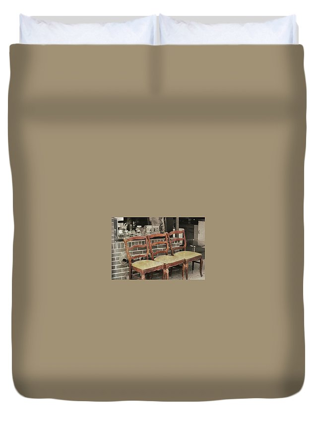 Seat Duvet Cover featuring the photograph Vintage Seating by JAMART Photography