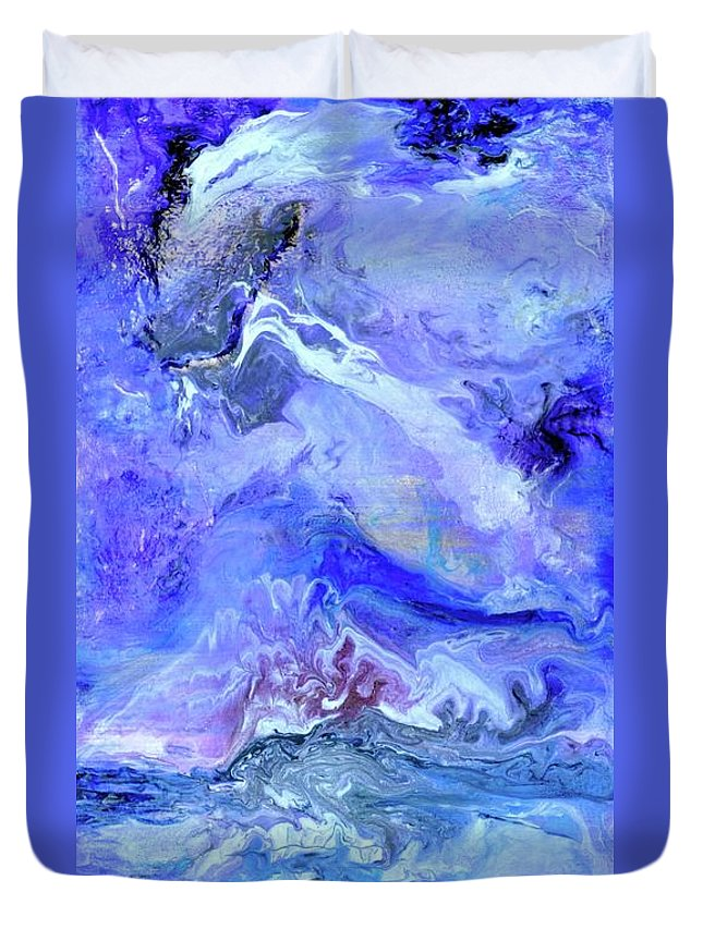 Violet Storm Duvet Cover featuring the painting Violet Storm by Debi Starr