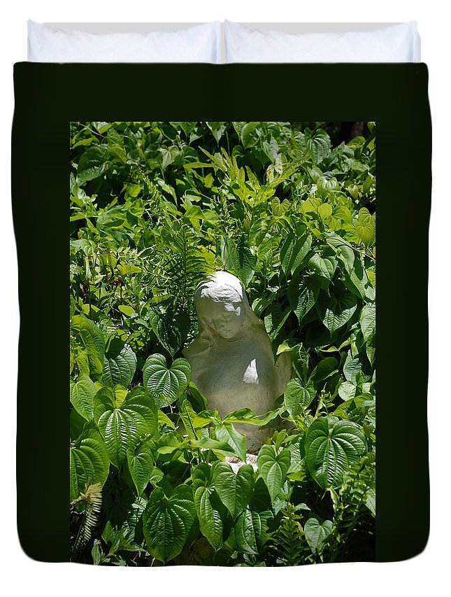 Miami Monastery Duvet Cover featuring the photograph Virgin Mary by Rob Hans