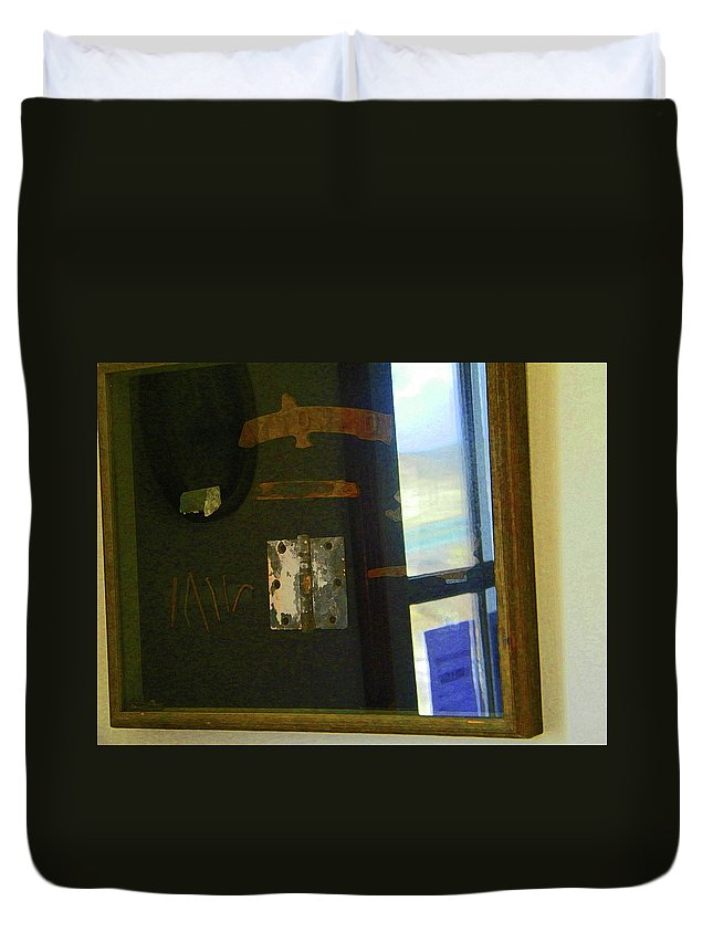 Abstract Duvet Cover featuring the photograph Virginia Dale Burn Relics by Lenore Senior