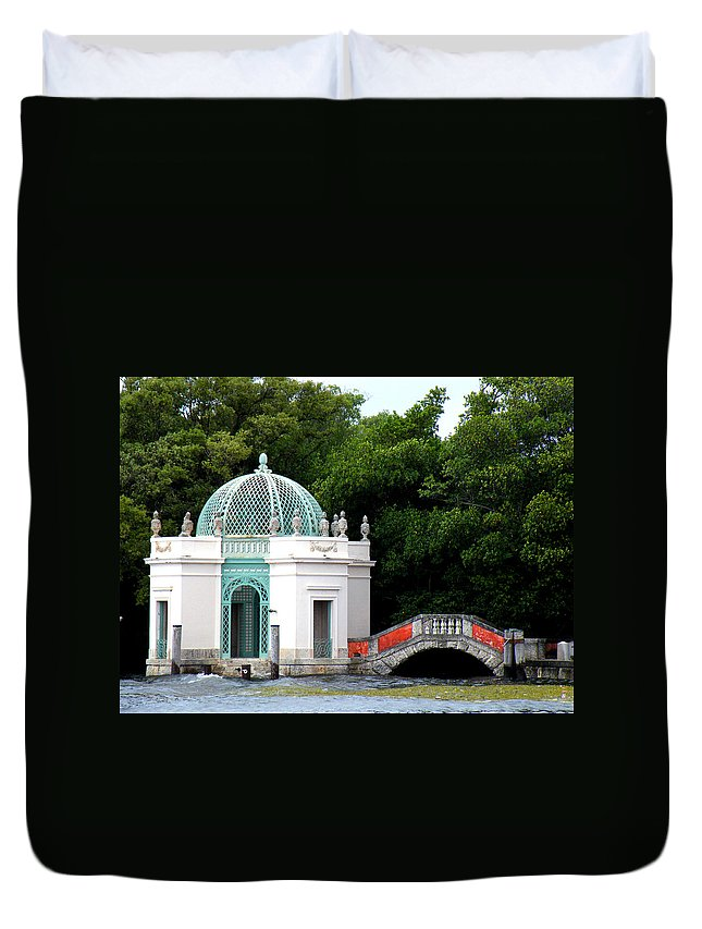 Landscape Duvet Cover featuring the photograph Viscaya by Patricia Awapara