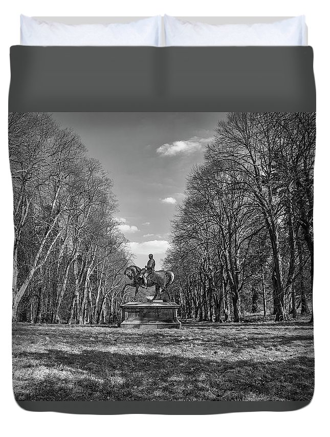 Gough Duvet Cover featuring the photograph Viscount On Horseback. by Paul Cullen