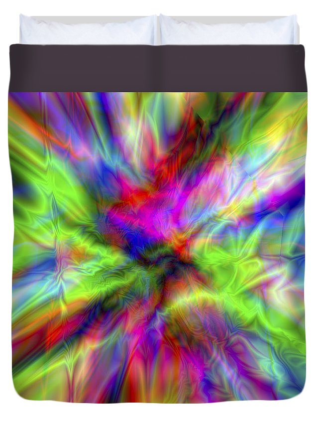 Colors Duvet Cover featuring the digital art Vision 1 by Jacques Raffin