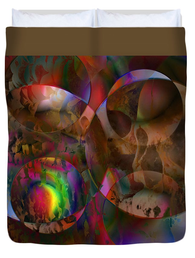 Colors Duvet Cover featuring the digital art Vision 24 by Jacques Raffin