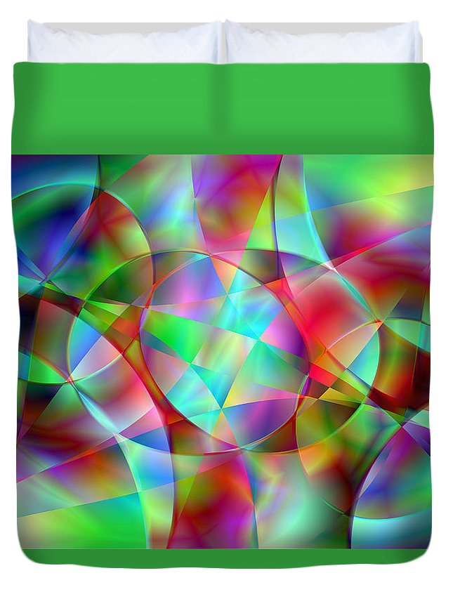 Colors Duvet Cover featuring the digital art Vision 27 by Jacques Raffin