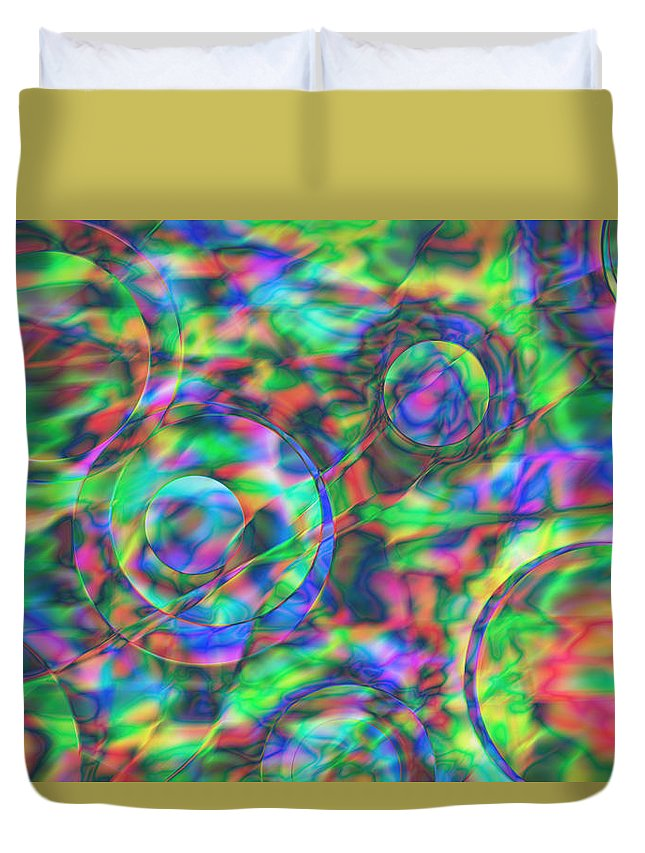 Colors Duvet Cover featuring the digital art Vision 28 by Jacques Raffin