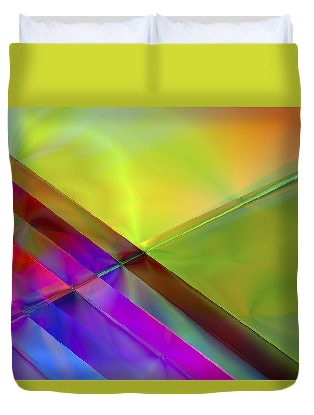 Colors Duvet Cover featuring the digital art Vision 3 by Jacques Raffin