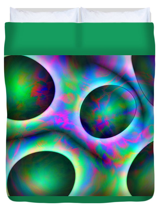 Colors Duvet Cover featuring the digital art Vision 30 by Jacques Raffin