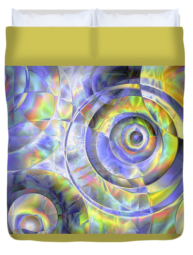 Colors Duvet Cover featuring the digital art Vision 37 by Jacques Raffin