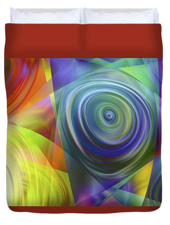 Colors Duvet Cover featuring the digital art Vision 39 by Jacques Raffin