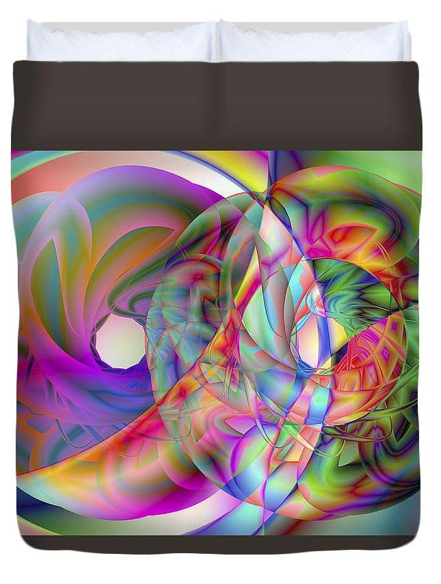 Crazy Duvet Cover featuring the digital art Vision 41 by Jacques Raffin