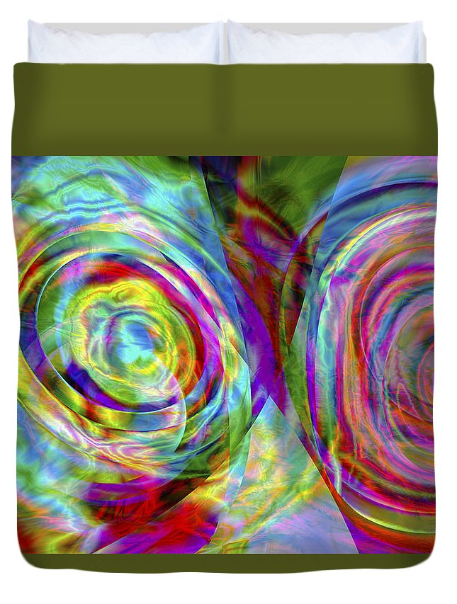 Crazy Duvet Cover featuring the digital art Vision 44 by Jacques Raffin