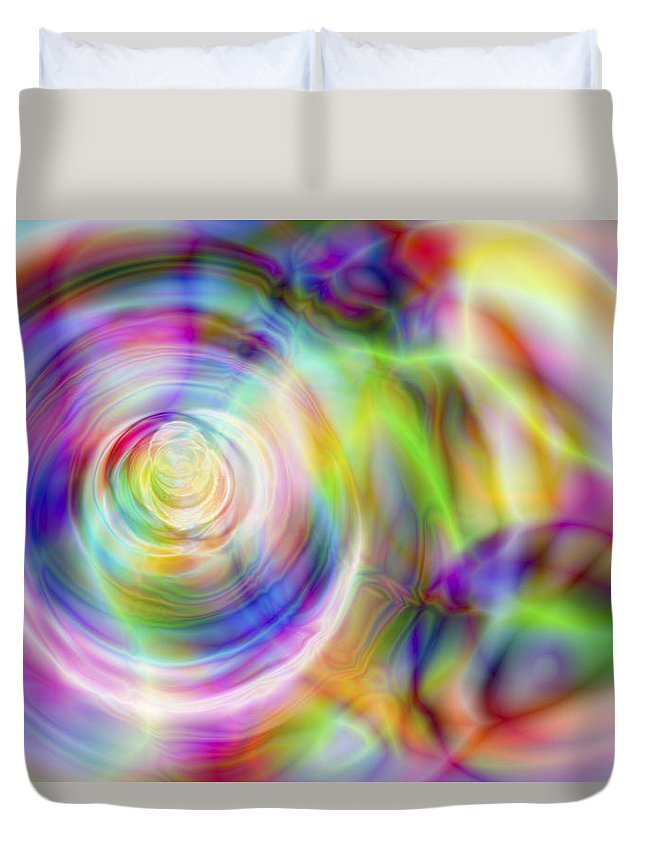 Crazy Duvet Cover featuring the digital art Vision 7 by Jacques Raffin
