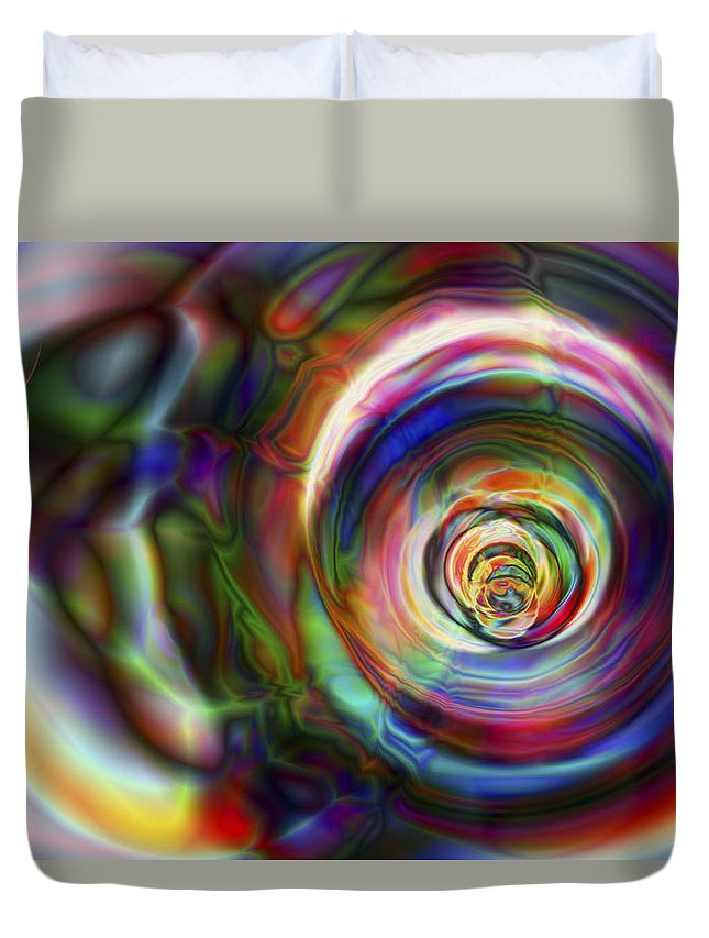 Crazy Duvet Cover featuring the digital art Vision 8 by Jacques Raffin
