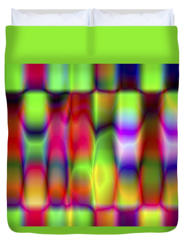 Crazy Duvet Cover featuring the digital art Vision 9 by Jacques Raffin