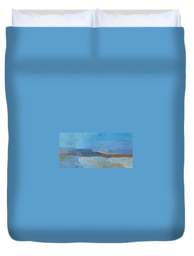 Abstract Duvet Cover featuring the painting Vision by Habib Ayat
