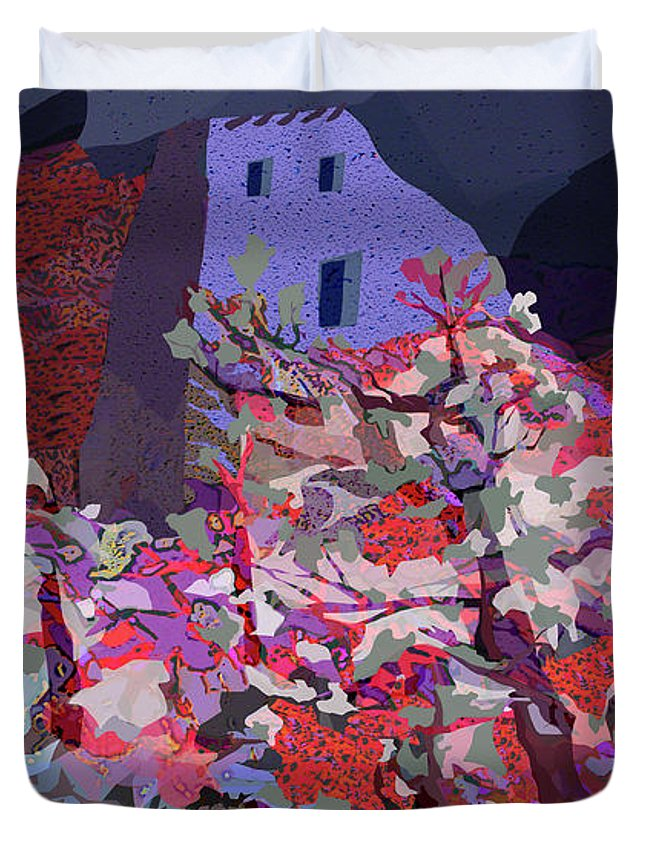 Lanscape Duvet Cover featuring the digital art Vision Of The Ruins by Raymond Alvarez