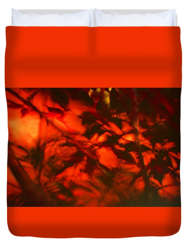 Leaves. Leaf Duvet Cover featuring the photograph Visions Of The Forest Floor by Gary Bartoloni