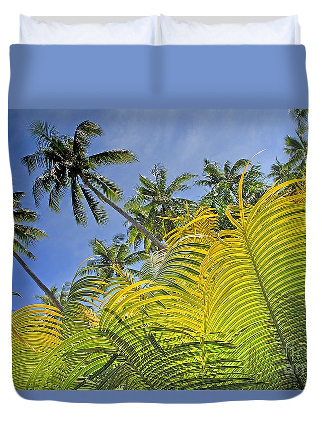 Afternoon Duvet Cover featuring the photograph Viti Levu, Coral Coast by Himani - Printscapes