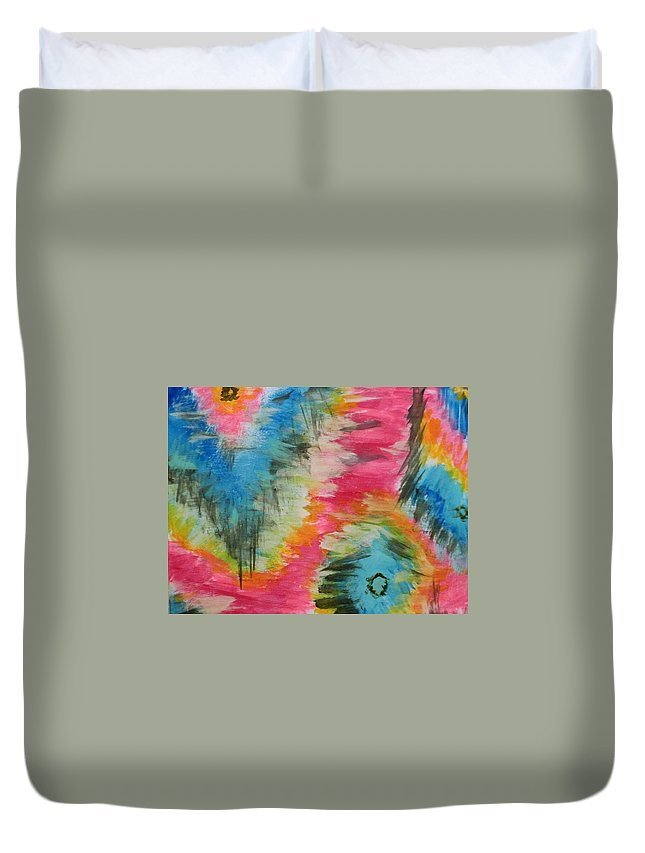 Colorful Duvet Cover featuring the painting Vivid by Melisa Farthing